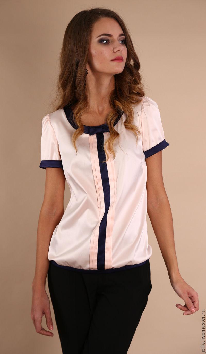 блузки из атласа для полных фото