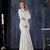 Одежда handmade. Livemaster - original item White floor-length dress. Handmade.