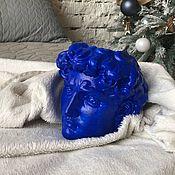 Изделия ручной работы. Ярмарка Мастеров - ручная работа Синий давид кашпо. Handmade.
