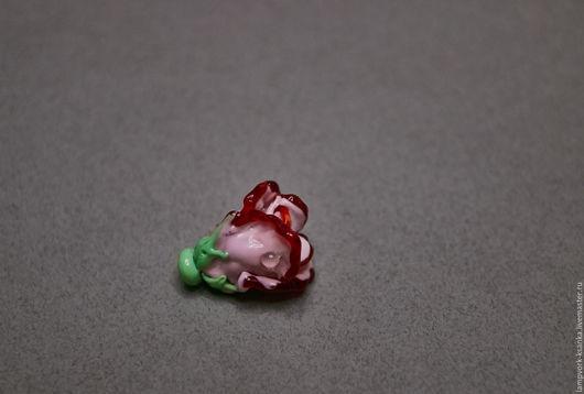 """Для украшений ручной работы. Ярмарка Мастеров - ручная работа. Купить Бусина """"Розочка"""". Handmade. Разноцветный, роза украшение, кулон"""
