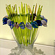 Вазы ручной работы. Ярмарка Мастеров - ручная работа. Купить Цветы из цветного стекла  - Подснежники. Handmade. Цветы, стекло