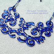 Украшения handmade. Livemaster - original item Glass necklace St. Petersburg`s evening, glass fusing. Handmade.