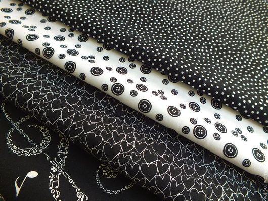 """Шитье ручной работы. Ярмарка Мастеров - ручная работа. Купить Коллекция  тканей """"Black & White"""". Handmade. Чёрно-белый"""