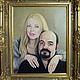 Свадебный портрет. Масло, холст 50х40, Москва, 2007г. 40.000 руб. Готовый портрет можно оформить в багет самостоятельно, либо поручить это мне.