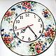 Часы для дома ручной работы. Ярмарка Мастеров - ручная работа. Купить Часы настенные Букет. Handmade. Цветы, подарок подруге