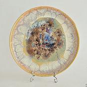 "Посуда handmade. Livemaster - original item Porcelain plate ""Pastel veil"". Handmade."