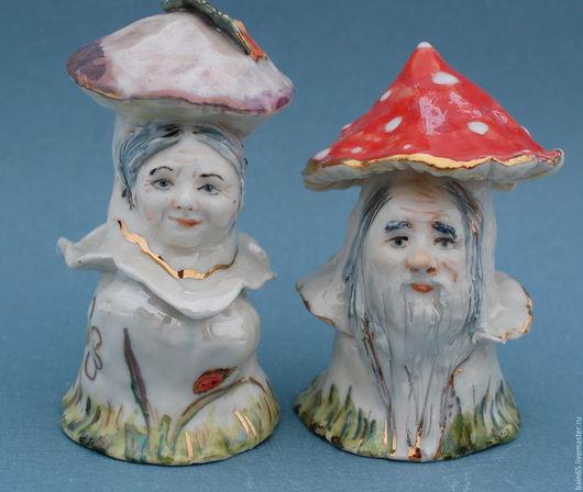 Колокольчики ручной работы. Ярмарка Мастеров - ручная работа. Купить Пара несъедобных грибов.. Handmade. Колокольчик, сказочный персонаж, люстр