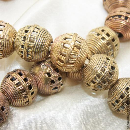 Для украшений ручной работы. Ярмарка Мастеров - ручная работа. Купить СЕТЬ этно африканские металлические бусины. Handmade. Африка