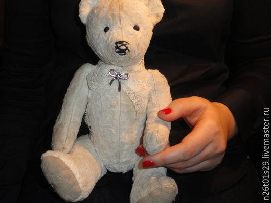 Мишки Тедди ручной работы. Ярмарка Мастеров - ручная работа. Купить Мишка белый. Handmade. Мишка, антикварный мишка