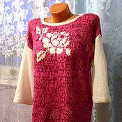 Одежда handmade. Livemaster - original item jacket knitted. Rose garden. Ed.slave.. Handmade.