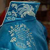 Материалы для творчества ручной работы. Ярмарка Мастеров - ручная работа вышивка на спенсере. Handmade.