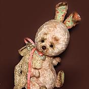 Куклы и игрушки ручной работы. Ярмарка Мастеров - ручная работа Зайка тедди Весенняя. Handmade.