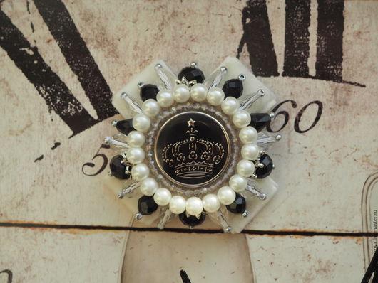 Имперская брошь ручной работы `Бланка`,названная в честь королевы Франции- Бланки Кастильской.