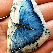 """Украшения ручной работы. Ярмарка Мастеров - ручная работа Кулон """"Голубая бабочка"""" 2. Handmade."""