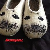 """Обувь ручной работы. Ярмарка Мастеров - ручная работа Тапочки """"Нерпа"""". Handmade."""