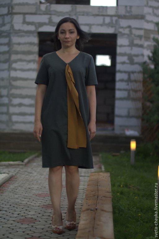Платья ручной работы. Ярмарка Мастеров - ручная работа. Купить Платье серое платье шерсть платье полушерсть пплатье. Handmade.