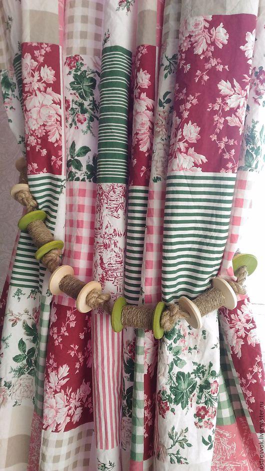 Текстиль, ковры ручной работы. Ярмарка Мастеров - ручная работа. Купить подхваты для штор в бохо стиле. Handmade. Зеленый, папоротниковый