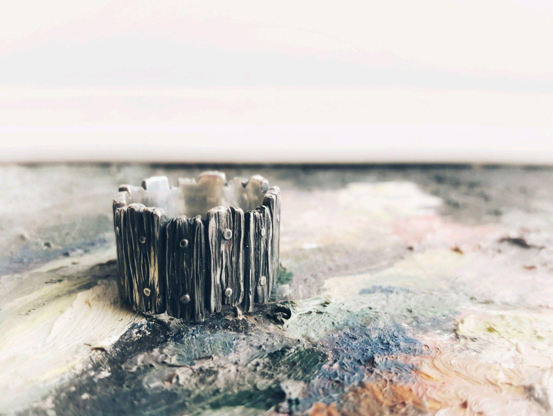 """Кольцо серебрянное """"Забор"""", Кольца, Кострома,  Фото №1"""