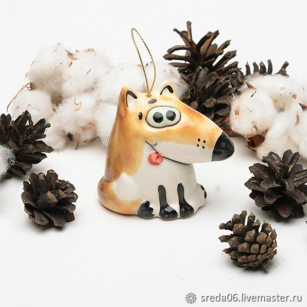 Лисичка Игрушка на елку, Елочные игрушки, Сергиев Посад,  Фото №1