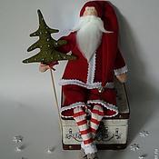 Куклы и игрушки ручной работы. Ярмарка Мастеров - ручная работа Санта с ёлкой. Handmade.