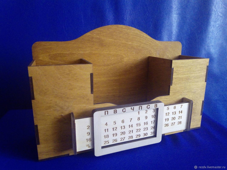 Органайзер с вечным календарем, Карандашницы, Кавалерово,  Фото №1
