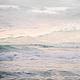 Фото картина для интерьера гостиной или спальни в пастельных розовых тонах, Абстрактный морской пейзаж с волнами `Море пастельных волн`. © Ануфриева Елена