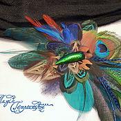 Украшения handmade. Livemaster - original item Hair clip feather. Handmade.