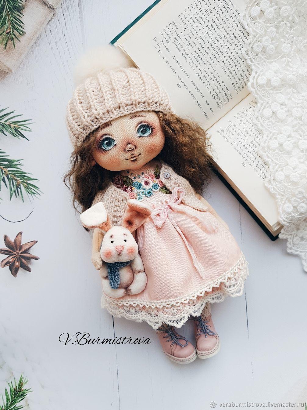 Кукла текстильная с зайкой, Куклы и пупсы, Калуга,  Фото №1
