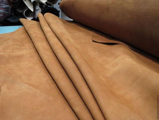 Шитье ручной работы. Ярмарка Мастеров - ручная работа. Купить Нубук гидрофобный Песок. Handmade. Рыжий, кожа натуральная