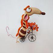 Мягкие игрушки ручной работы. Ярмарка Мастеров - ручная работа Игрушка крыса Викентий, символ нового года. Handmade.