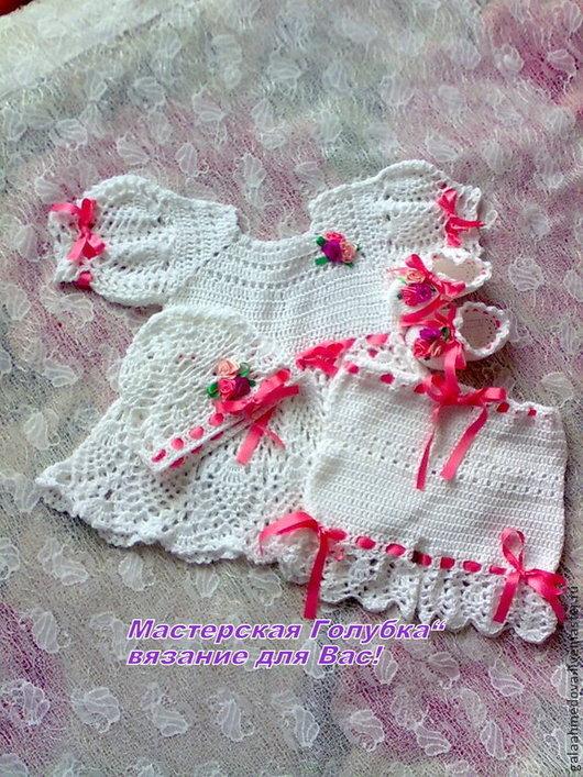 крестильное, крестильное платье, крестильный комплект, комплект для девочки, нарядное платье, ажурный комплект, для девочки, для новорожденной, комплект на выписку, на Крещение, платье, шортики, шапочка