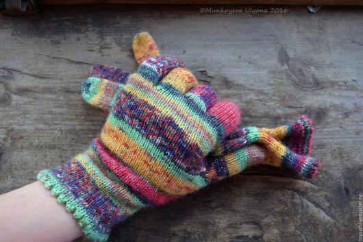 Вязаные перчатки женские в стиле деревенский шик. Весенние аксессуары. Женские перчатки вязаные на заказ. Подарок на 8 марта. Вязаные перчатки купить. Перчатки вязаные для хорошего настроения.