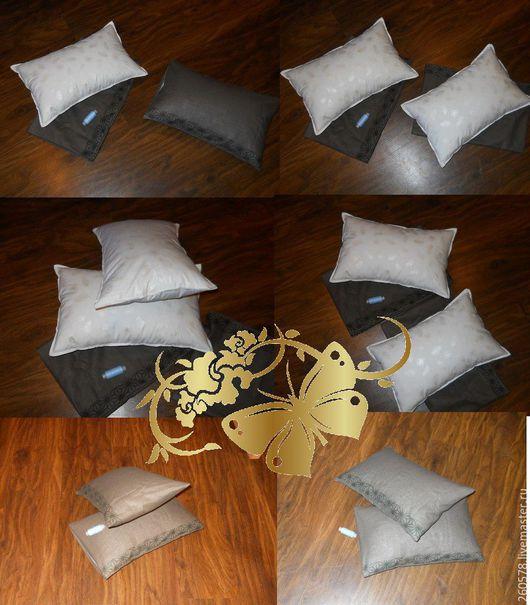 Пледы и одеяла ручной работы. Ярмарка Мастеров - ручная работа. Купить Пуховая подушка для ребёнка. Handmade. Белый, детская подушка