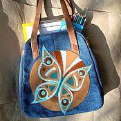 Сумки и аксессуары handmade. Livemaster - original item Denim bag