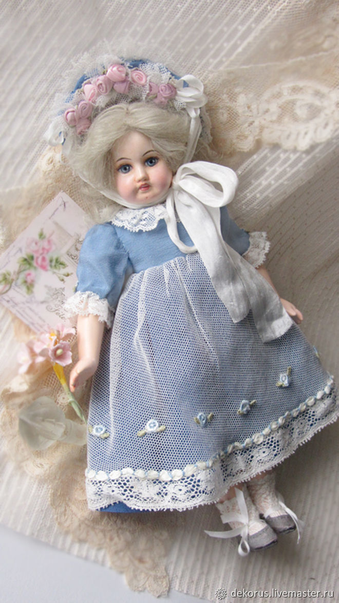 Doll in antique style German girl, Dolls, Buzuluk,  Фото №1
