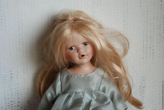 Винтажные куклы и игрушки. Ярмарка Мастеров - ручная работа. Купить Продана. Фарфоровая кукла. Handmade. Салатовый, интерьерная кукла, фарфор
