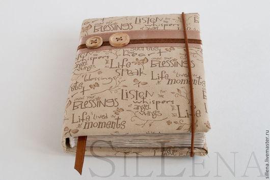 Блокноты ручной работы. Ярмарка Мастеров - ручная работа. Купить Бежевый. Handmade. Бежевый, тонированные листы, пуговицы деревянные