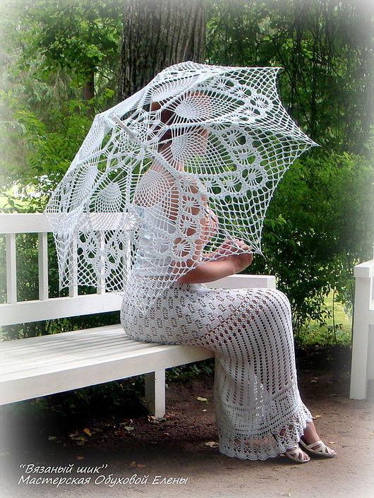 Зонты ручной работы. Ярмарка Мастеров - ручная работа. Купить Кружевной зонт. Handmade. Ажурный зонт, аксессуары для невесты, зонтик