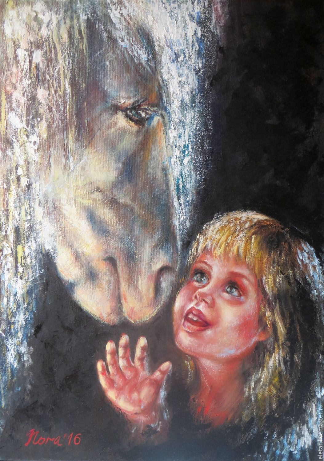 Original oil paintings on canvas Animal wall art Kids room decor, Pictures, Donetsk,  Фото №1