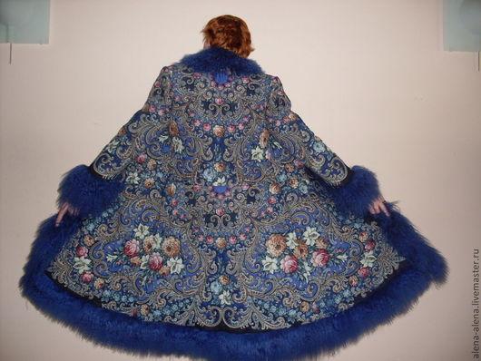"""Верхняя одежда ручной работы. Ярмарка Мастеров - ручная работа. Купить Зимнее пальто """" Звёздная ночка"""". Handmade. Цветочный"""