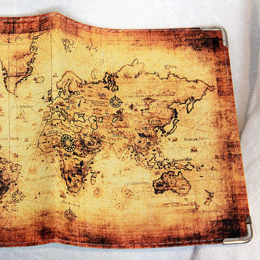 """Канцелярские товары ручной работы. Ярмарка Мастеров - ручная работа обложка """"Карта мира"""". Handmade."""