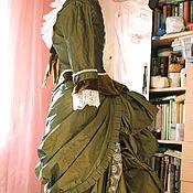 Одежда ручной работы. Ярмарка Мастеров - ручная работа Платье турнюр прогулочный. Handmade.