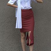 Одежда ручной работы. Ярмарка Мастеров - ручная работа Юбка шерстяная асимметричная. Handmade.