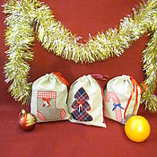 """Очки ручной работы. Ярмарка Мастеров - ручная работа Новогодние мешочки для подарков """"Праздник к нам приходит"""". Handmade."""