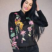 Одежда handmade. Livemaster - original item Jacket with hand embroidery