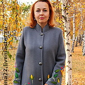 "Одежда handmade. Livemaster - original item Knitted coat""Autumn motives"". Handmade."