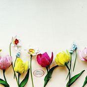 Цветы и флористика ручной работы. Ярмарка Мастеров - ручная работа Тюльпаны весенние. Handmade.