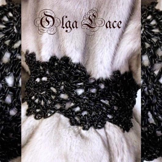 Пояса, ремни ручной работы. Ярмарка Мастеров - ручная работа. Купить Кружевной ремень из натуральной кожи. Handmade. Черный