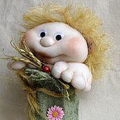 Куклы и игрушки ручной работы. Ярмарка Мастеров - ручная работа Авторская чулочная кукла Домовенок в мешке. Handmade.