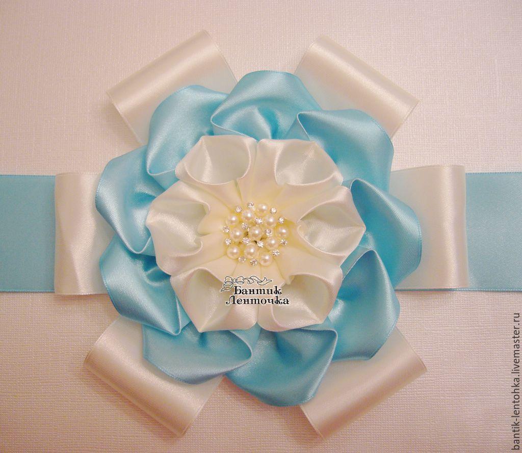 For Newborns handmade. Livemaster - handmade. Buy Bow on discharge from the hospital 'My angel - ivory'.Kit